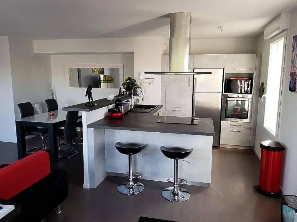 Kitchen Stainless steel Kitchen bar Wooden floor
